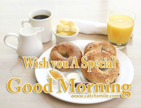 Wish you a special good morning image