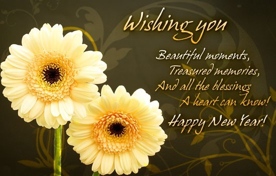 Wishing you beautiful moments treasured memories and all the blessing a heart can know happy new yea