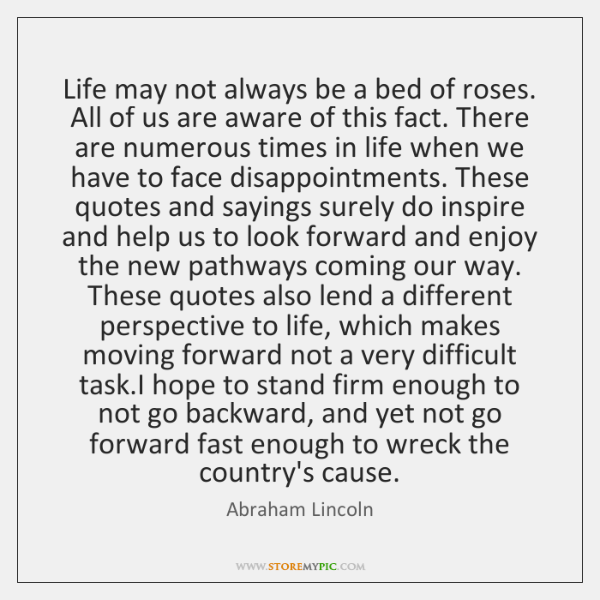 Essay of life is not a bed of roses