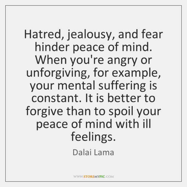 factors to remove hatred and jealousy Psych set 4 study which of the following is not one of the factors in the five-factor model of personality grandeur, and jealousy.