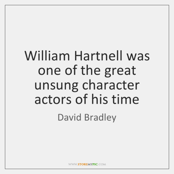 William Hartnell was one of the great unsung character actors of his ...
