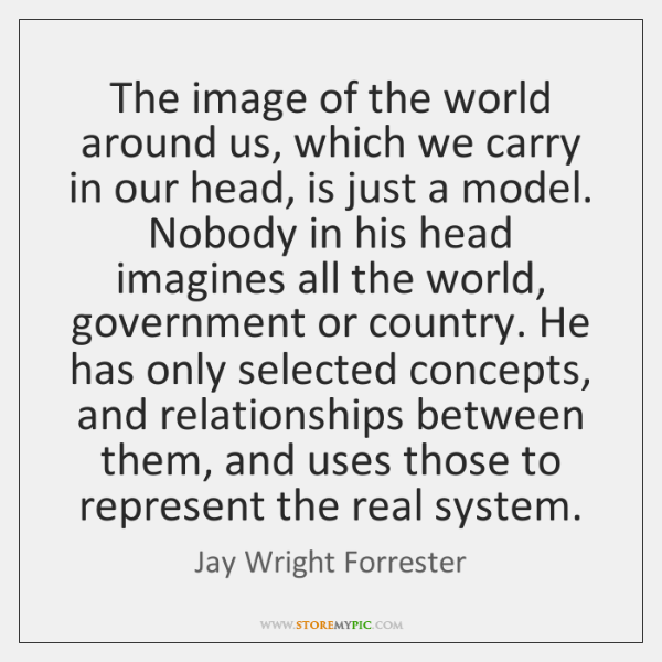 The image of the world around us, which we carry in our ...