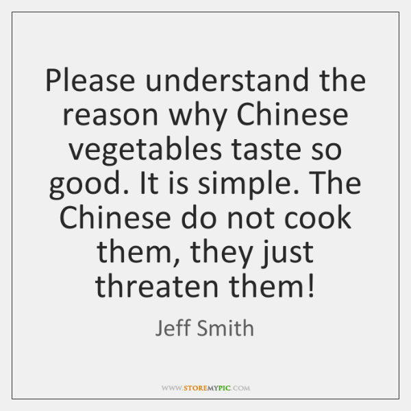 Please understand the reason why Chinese vegetables taste so good. It is ...