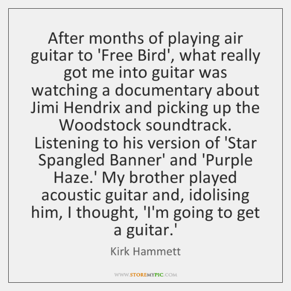 After months of playing air guitar to 'Free Bird', what really got ...