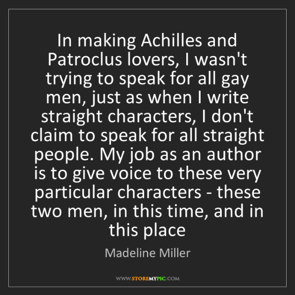 were achilles and patroclus lovers