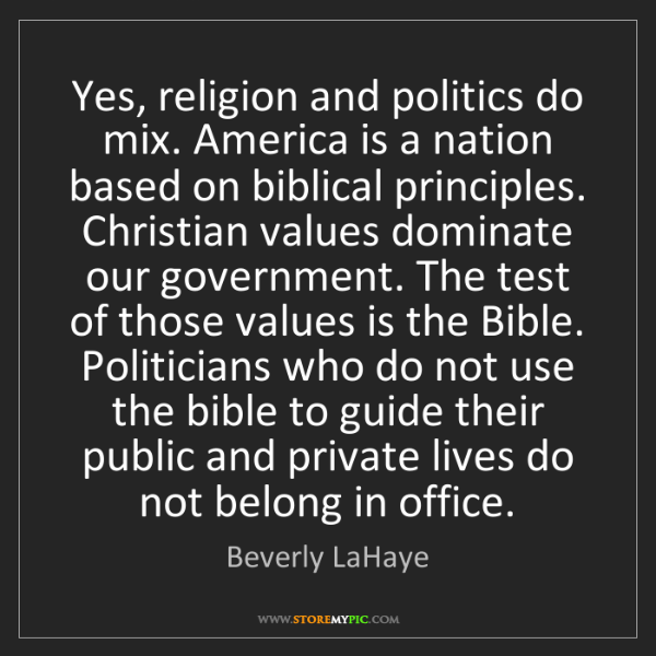 religion should not mix with politics