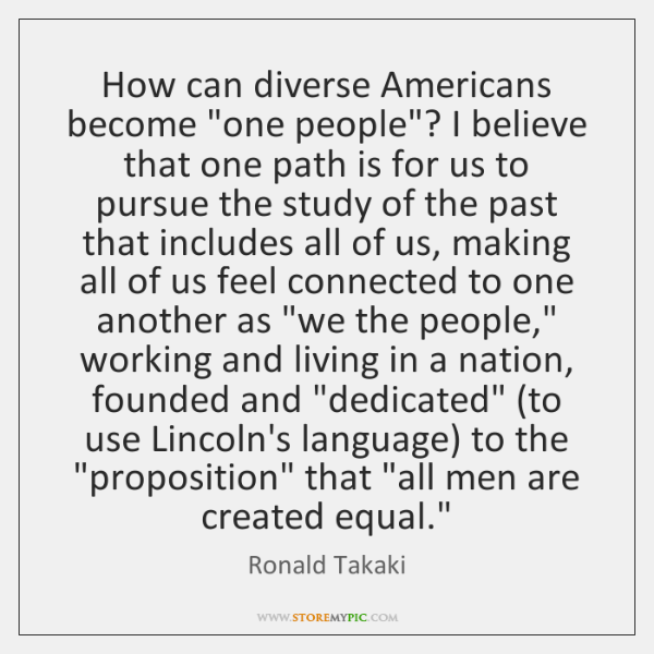 How can diverse Americans become