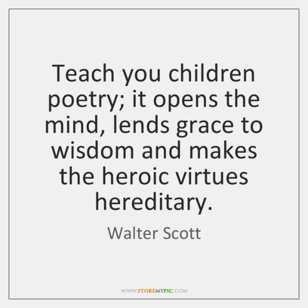 how to teach poetry to children
