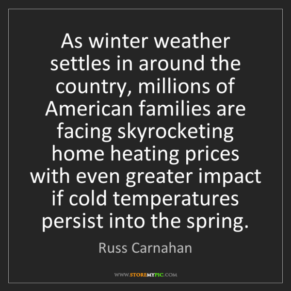 Russ Carnahan: As winter weather settles in around the country, millions...