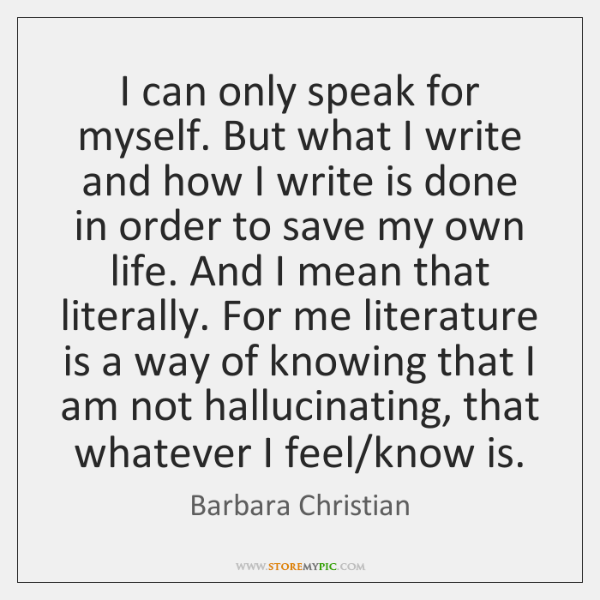 I can only speak for myself. But what I write and how ...