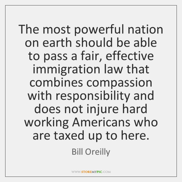 The most powerful nation on earth should be able to pass a ...
