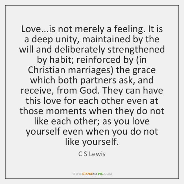 love is not a feeling