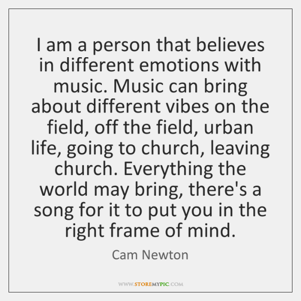 I am a person that believes in different emotions with music. Music ...