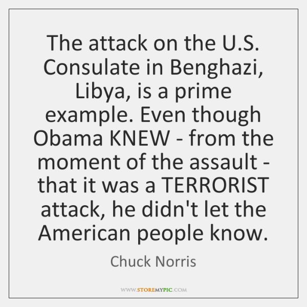 The attack on the U.S. Consulate in Benghazi, Libya, is a ...