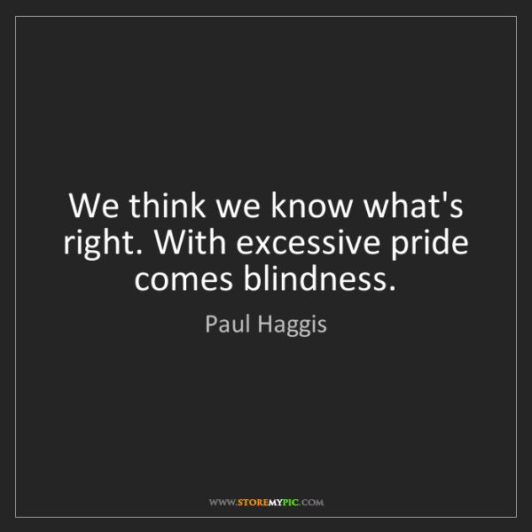 excessive pride