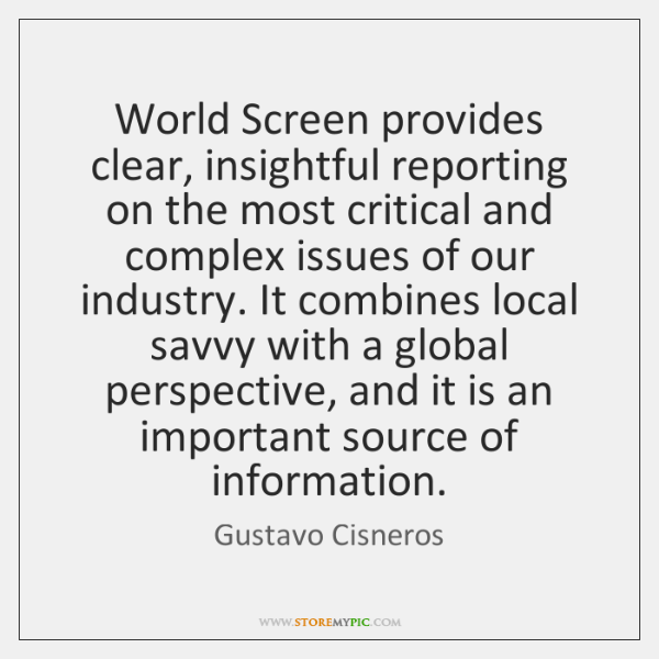 World Screen provides clear, insightful reporting on the most critical and complex ...
