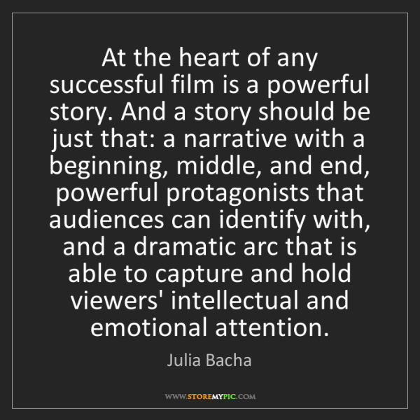 Julia Bacha: At the heart of any successful film is a powerful story....