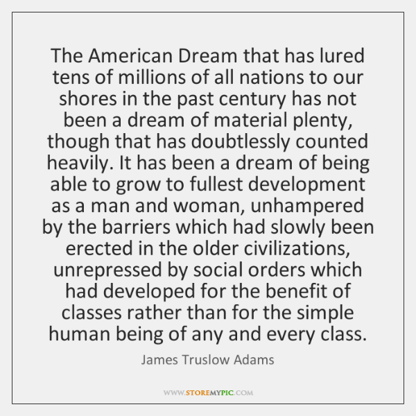 american dream by james truslow essay
