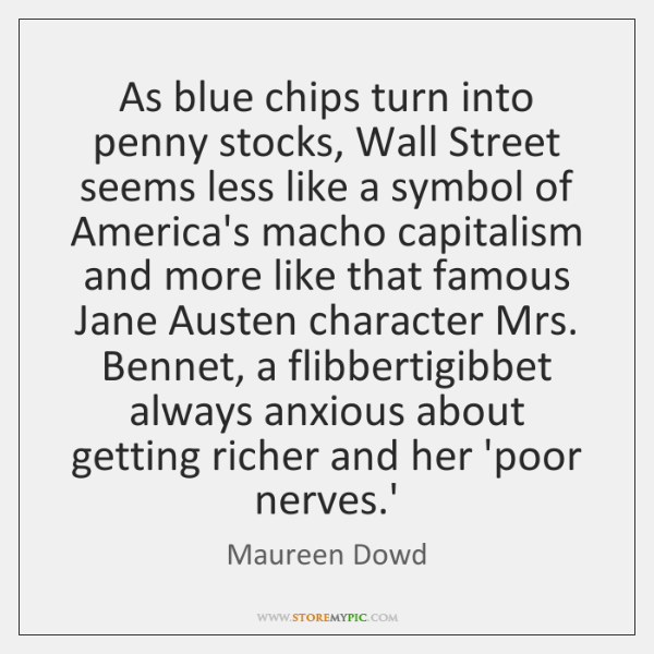 As blue chips turn into penny stocks, Wall Street seems less like ...
