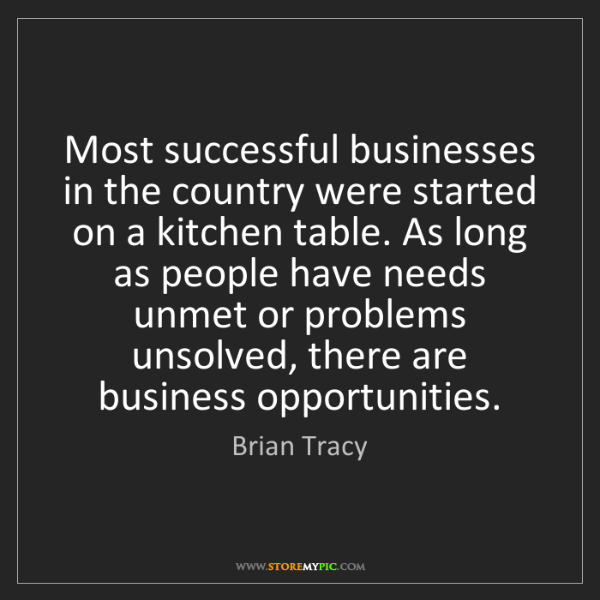 Brian Tracy: Most successful businesses in the country were started...