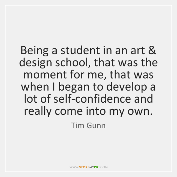 Being a student in an art & design school, that was the moment ...