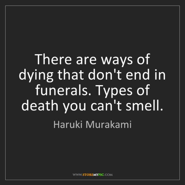 ways of dieing