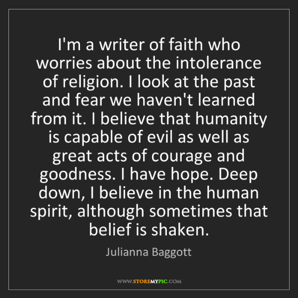 Julianna Baggott: I'm a writer of faith who worries about the intolerance...