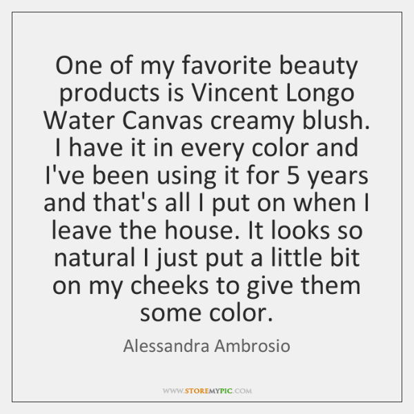 One of my favorite beauty products is Vincent Longo Water Canvas creamy ...
