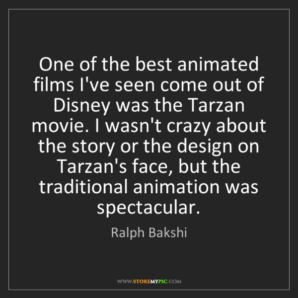 Ralph Bakshi: One of the best animated films I've seen come out of...