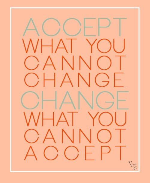 Accept what you cannot change change what you cannot accept