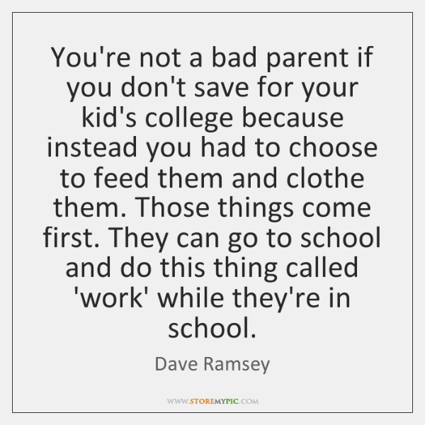 You're not a bad parent if you don't save for your kid's ...