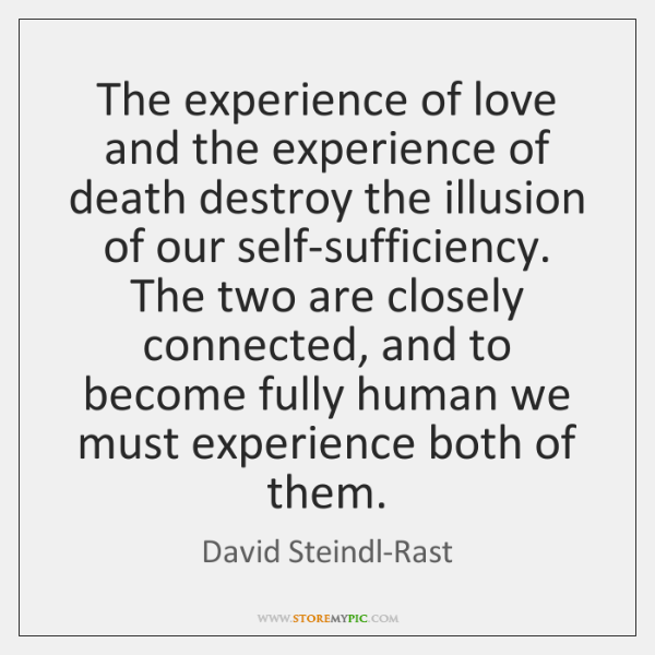 the experience of love and being loved