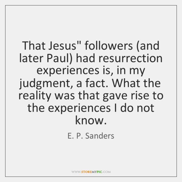 That Jesus