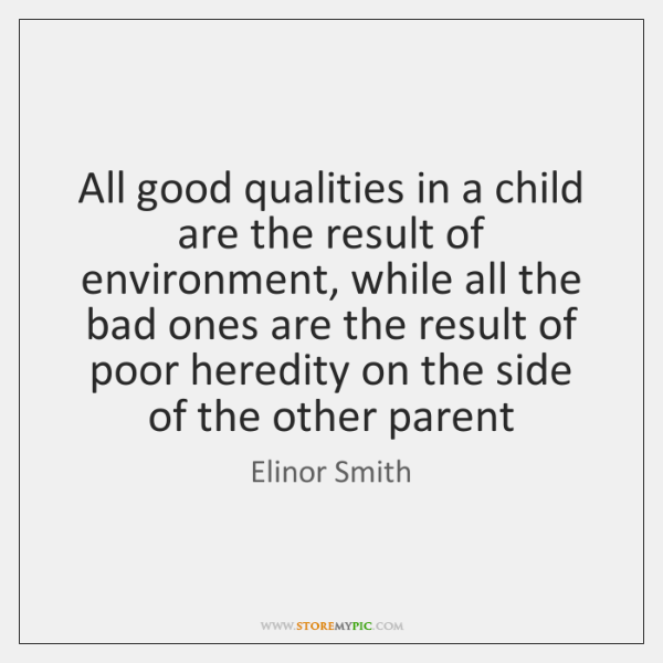 Good And Bad Qualities