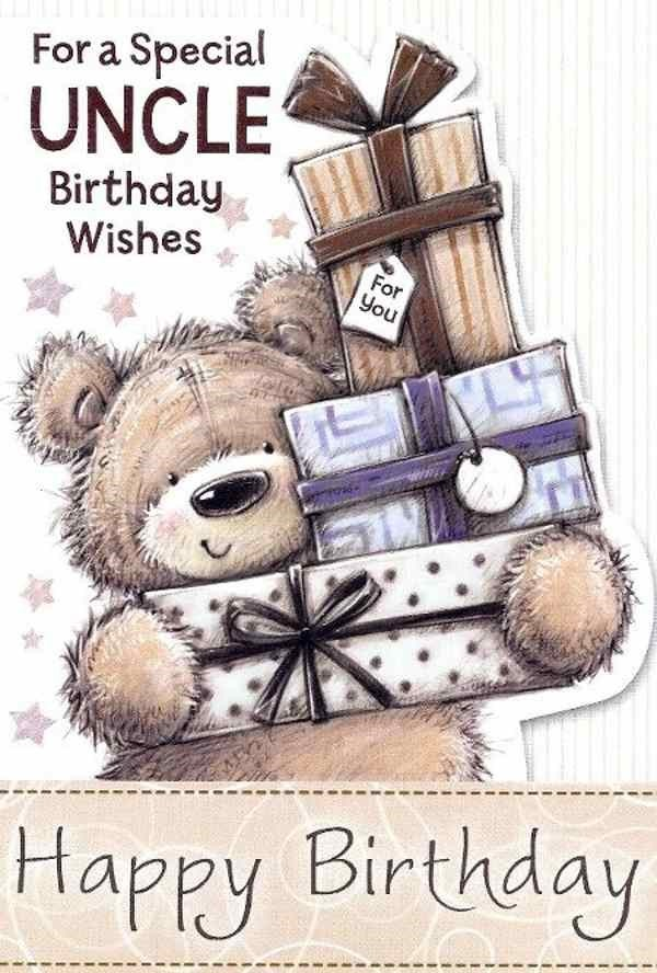 For a special uncle birthday wishes happy birthday teddy bear with gifts