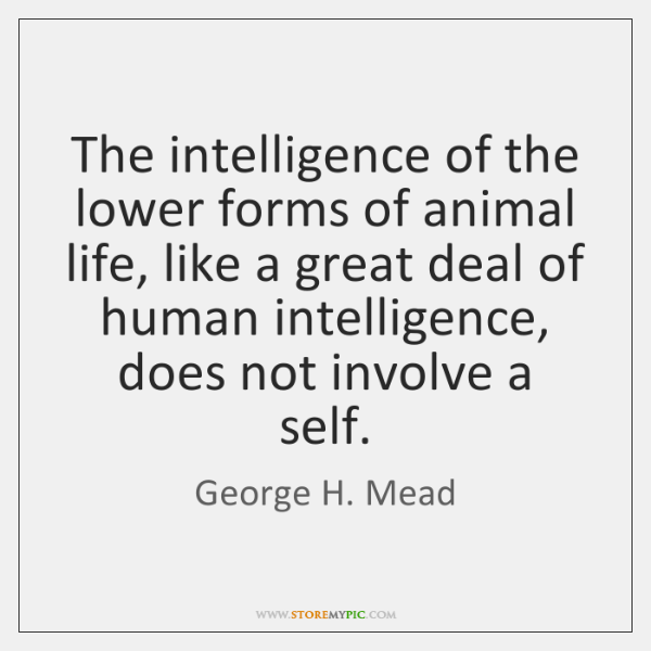 The intelligence of the lower forms of animal life, like a great ...