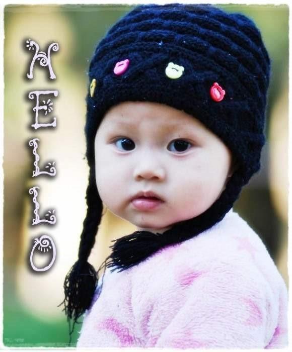 Hello cute little girl