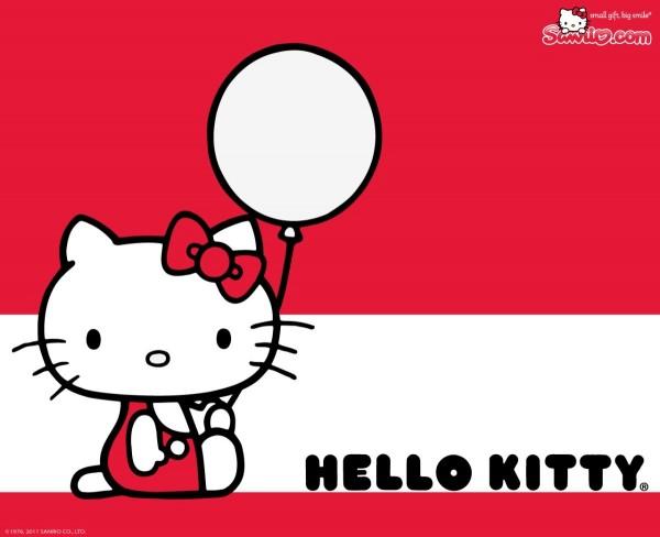 Hello kitty with balloon
