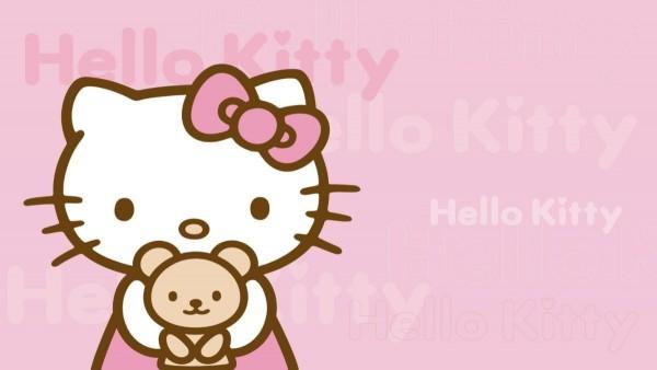 Hello kitty with small teddy bear