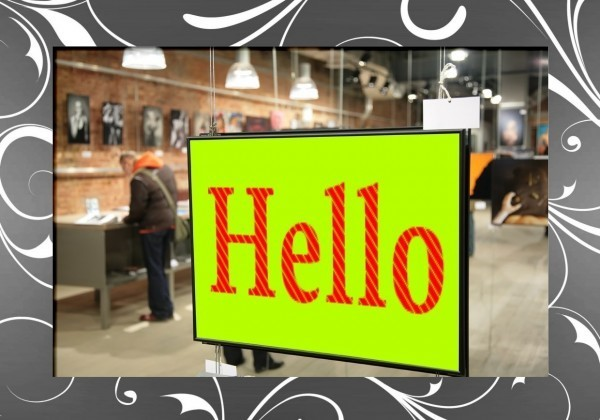 Hello signboard