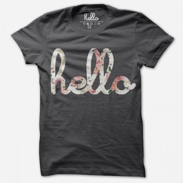 Hello written on tshirt