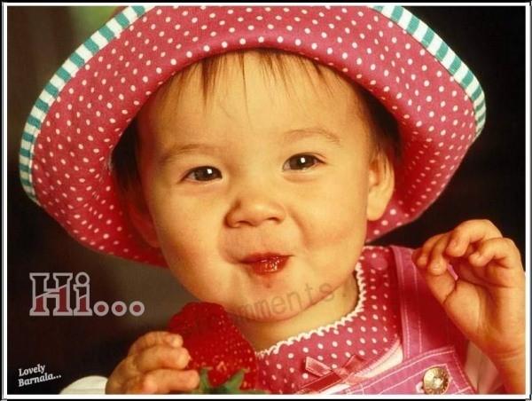 Hi cute little girl