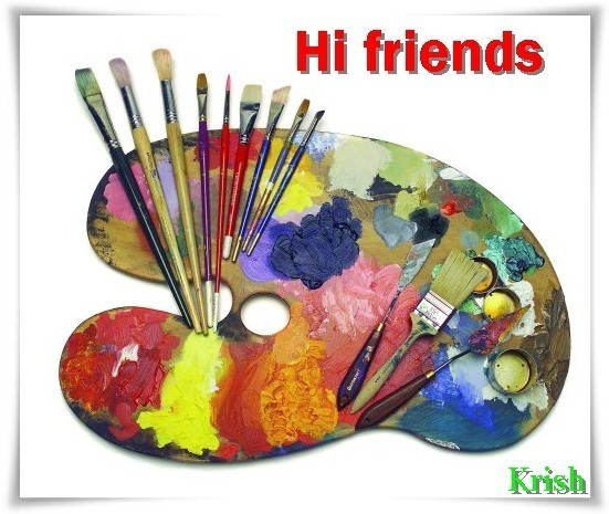 Hi friends paint brushes and board