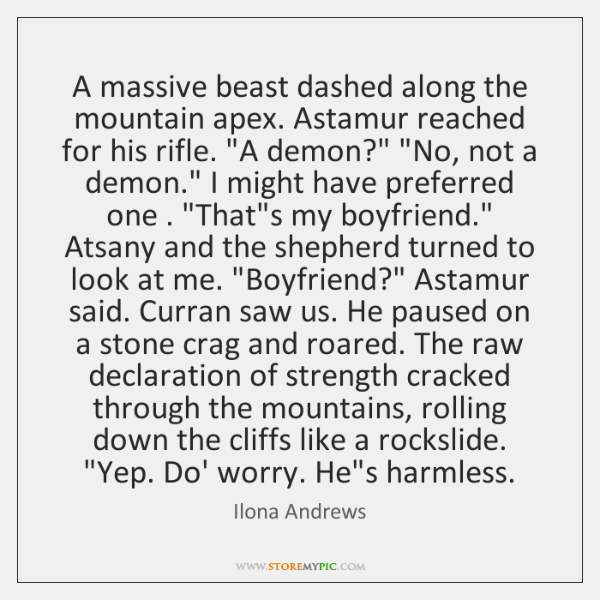 A massive beast dashed along the mountain apex. Astamur reached for his ...