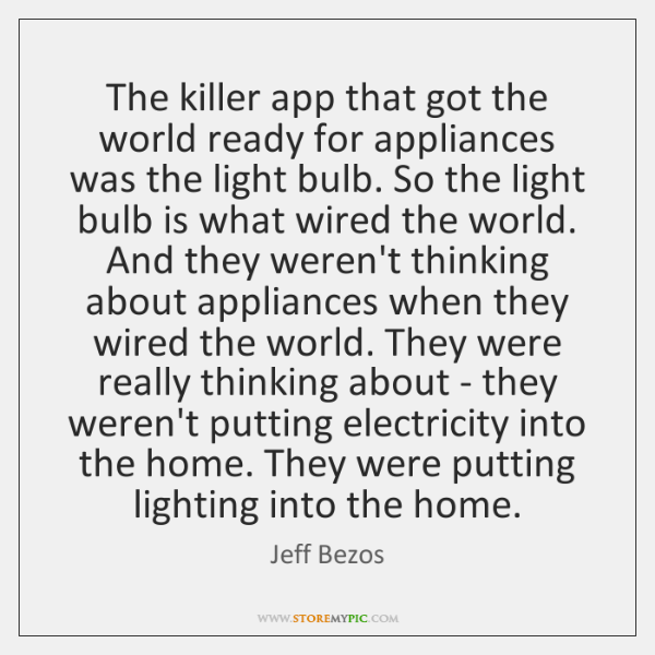 The killer app that got the world ready for appliances was the ...