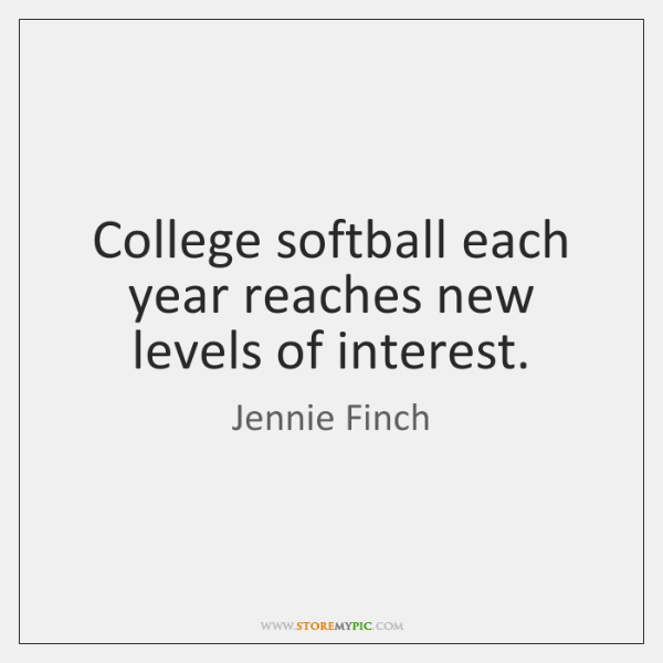 College softball each year reaches new levels of interest.