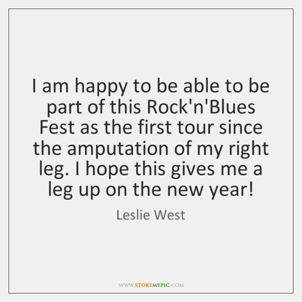 I am happy to be able to be part of this Rock'n'Blues ...