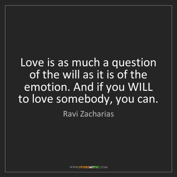 ravi zacharias love
