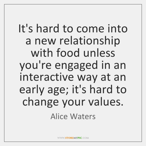 It\'s hard to come into a new relationship with food unless ...