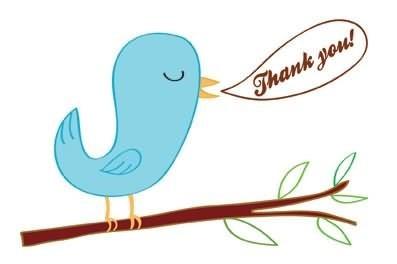 Bird says thank you